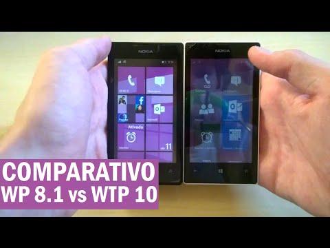 Comparativo WP 8.1 vs Windows 10 TP2 - Lumia 520!