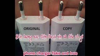 Bên trong sạc điện thoại xịn và đểu có gì?( How to identify true and fake phone chargers?)