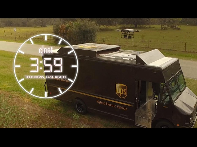UPS delivers on truck-drone hybrid.  Is it more than meets the eye?  (The 3:59, Ep. 182)