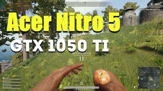PUBG on GTX 1050 Ti and Core i5 8th gen (Acer Nitro 5) [Optimal settings]