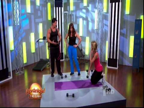 Alessandra Villegas & Rashel Diaz working out on Levantate 4-9-12.mpg