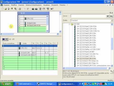 PLC Siemens Step 7 - Creare un progetto partendo da zero