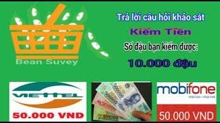 Khảo sát kiếm tiền online 50k ngày với trang BeanSurvey   Kiếm tiền khảo sát hay
