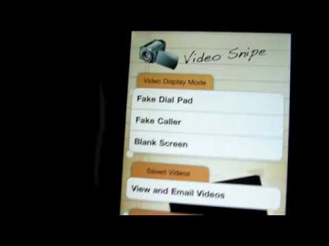 Video Snipe: Spy Camcorder Camera  for iPhone & iPod Touch App Review