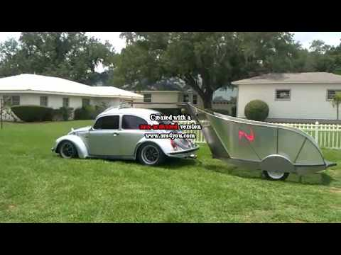 vw beetle trailer camper  wheel volkylandia youtube