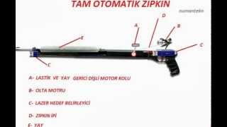 Spring and wheel automatic harpoon - Yaylı ve lastikli  otomatik zıpkın