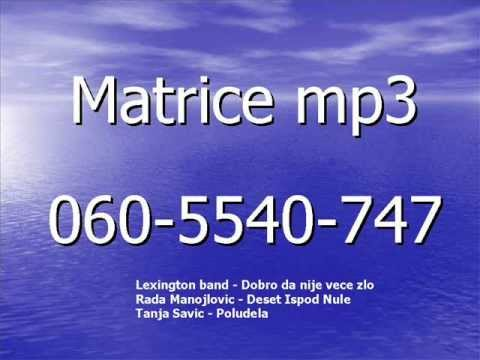 Matrice Mp3  Lexington Band-dobro Da Nije Vece Zlo R.manojlovic-deset Ispod Nule  T.savic-poludela video