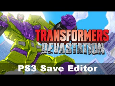 [PS3] Transformers Devastation *Bruteforce Savedata Save Editor*