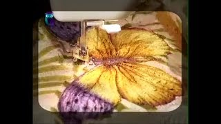 Quilting. From patches sew decorative painting