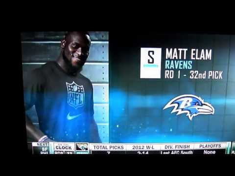 Baltimore Ravens First Round Pick 2013- Matt Elam
