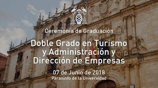 Graduación del Doble Grado en Turismo y Administración y Dirección de Empresas · 07/06/2018