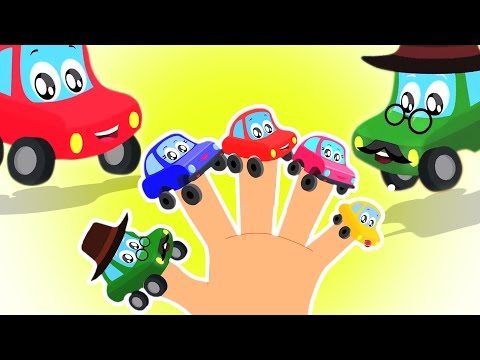 Autos Finger Familie | Kleine rote Auto | Fingere Family Song | Video für Kinder