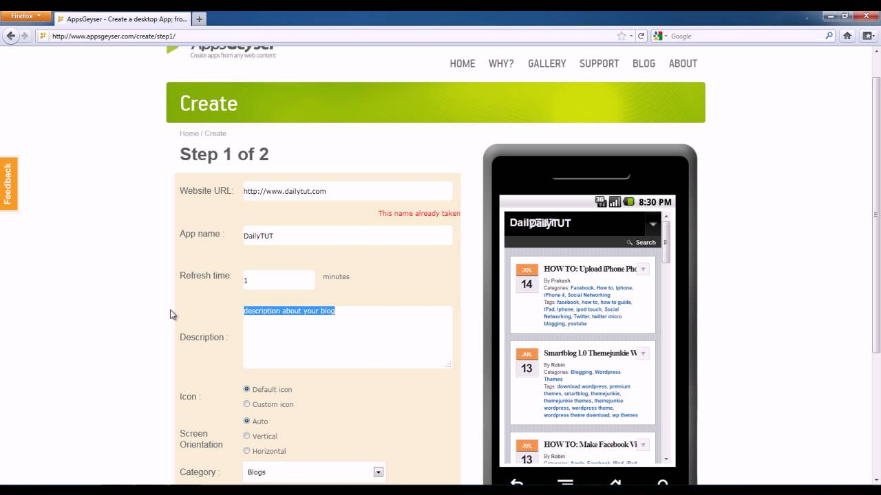 How To Create Android App For Your Blog Or Website Youtube