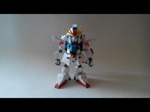 оригами робот из бумаги