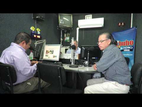 Julio Cesar Galvis y Juan Carlos Armenta en Qhubo Radio Bucaramanga