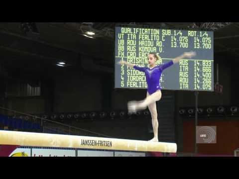 European Championships Brussels 2012, Victoria KOMOVA (RUS) Balance Beam