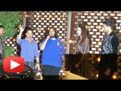(Video) Aishwarya & Abhishek Bachchan Attend Mumbai Indians Victory Party