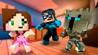 Baby Pat and Jen BLOW UP a House! Who's Your Daddy Challenge (Minecraft Roleplay)