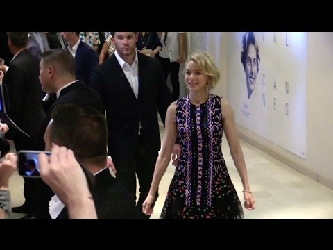 Naomi Watts, Matthew McConaughey and Gus Van Sant inside Palais des Festivals for the Sea of Trees i