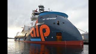 Deepsea tugboat ALP DEFENDER sailing