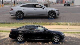 4Motion vs Quattro - Volkswagen Arteon 2.0 TDI vs Audi A6 2.0 TDI - 4x4 test on rollers
