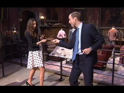 Kate Middleton and Prince William duel with wands like Harry Potter