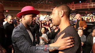 "FLOYD MAYWEATHER JR TELLS KELL BROOK ""YOU'RE A HELL OF A WARRIOR!"""