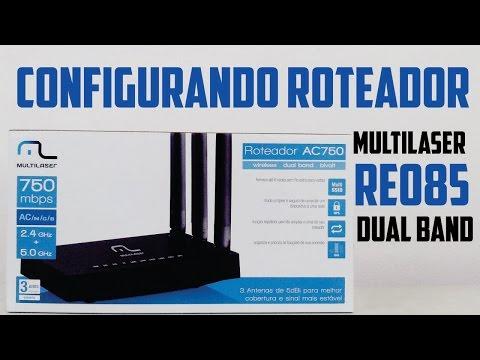 Diferença entre banda 2.4 GHz e 5 GHz // Configurando Roteador Multilaser RE085 750mbps dual band