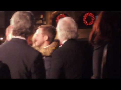 Dominic Monaghan and Bernard Hill at The Hobbit London Premiere