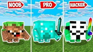 HOW TO TURN INTO LITTLE BLOCK HEAD? Minecraft Noob vs Pro Animation