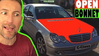 How to open hood on Mercedes C-Class - How to open bonnet on Mercedes C-Class