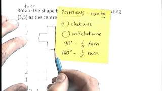 How to - rotate a shape using tracing paper