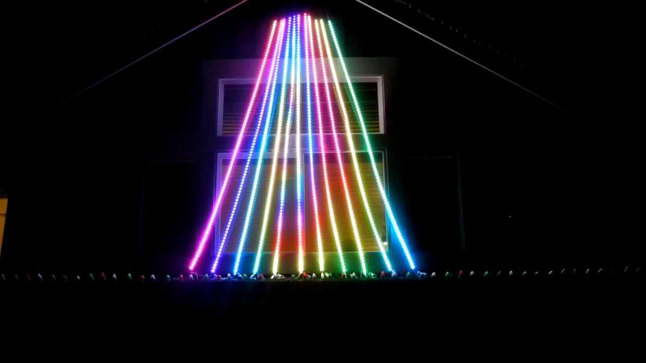 How To String Lights On A Mega Tree : Christmas Mega Tree LED Flex String PixelNet - YouTube