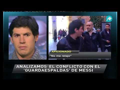 El 'guardaespaldas' de Messi, todo un profesional