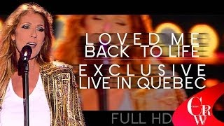 Celine Dion (Loved Me Back To Life) - EXCLUSIVE LIVE New Video