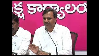 TRS leader Palla Rajeshwar Reddy Press Meet LIVE || Hyderabad