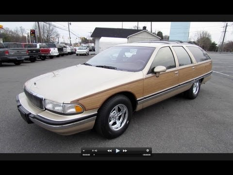 1994 Buick Roadmaster Estate Wagon Start Up. Exhaust. and In Depth Review