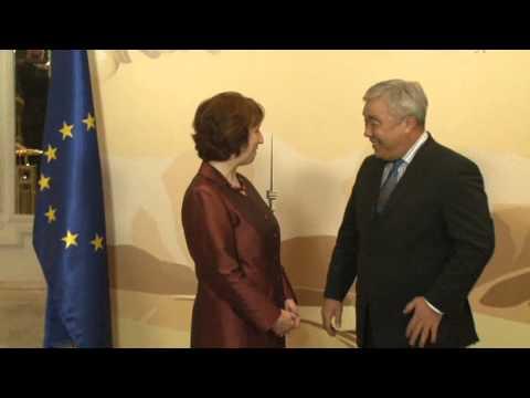 Catherine Ashton - E3+3 & Iran nuclear negotiations, Almaty, Kazakhstan