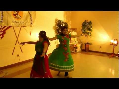 Sajda (mnik) And Radha (soty)  Dance Performance - Bagb Saraswati Puja 2013 video