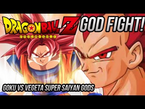 Dragon Ball Z: Super Saiyan God Goku Vs Ssg Vegeta dragonball Z Battle Of Gods video