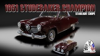 1951 Studebaker Champion Starlight Coupe MS CLASSIC CARS