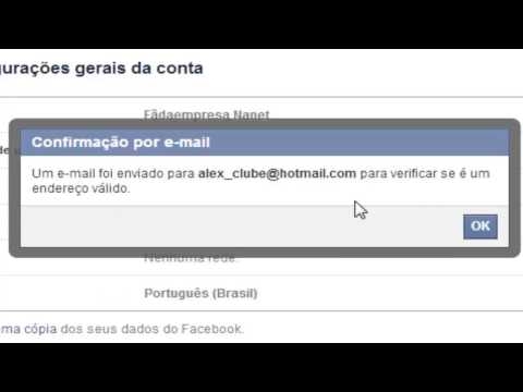 Como trocar o e mail principal do Facebook