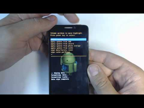 Alcatel OT Idol 6030 - How to remove pattern lock by hard reset