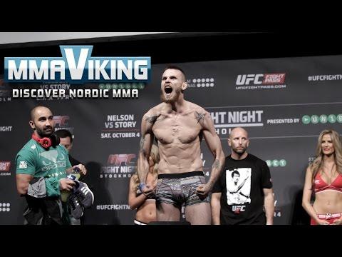 UFC Sweden 3 Weigh Ins Niklas Bäckström vs. Mike Wilkinson