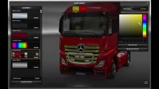 Euro Truck Simulator 2 -Mercedes-Benz MP4 Colored Grill (HD MOD Download)