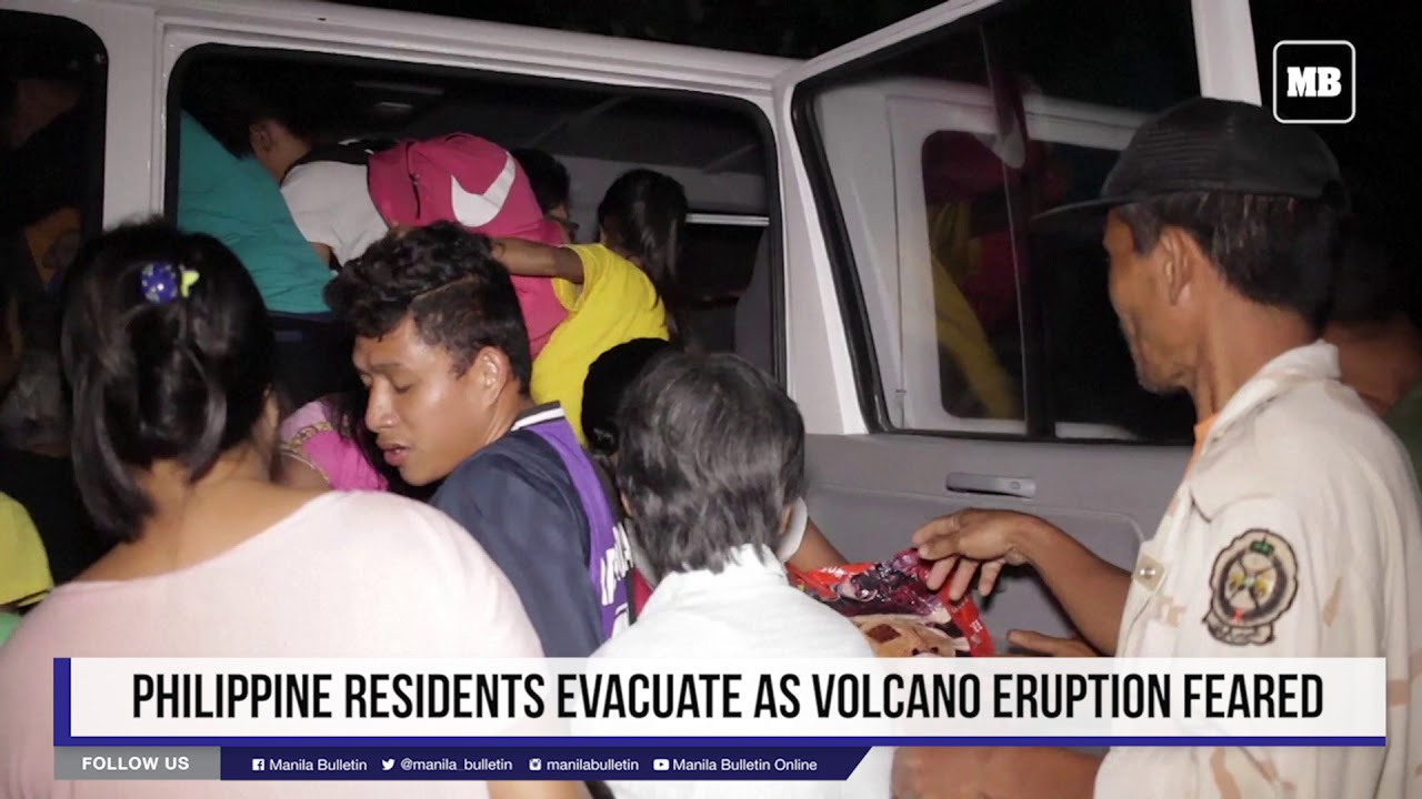 Philippine residents evacuate as volcano eruption feared
