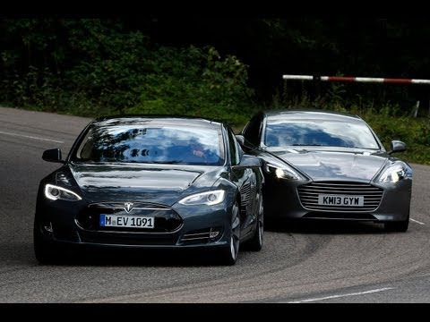 Tesla Model S takes on the Aston Martin Rapide S in the ultimate luxury saloon battle