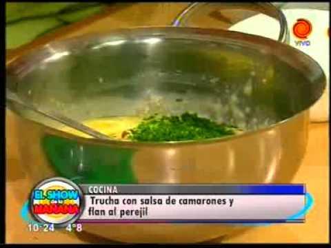 La receta del día Trucha con salsa de camarones y flan al perejil pt2.3gp