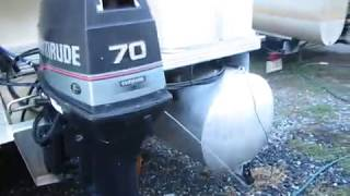 Evinrude 70 hp. Outboard with Tilt and Trim
