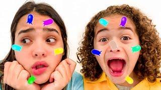 RYAN FINGE SER CIENTISTA E ACHA ESPINHAS NA LORRAYNE - Kids Pretend Play Scientist With Toys
